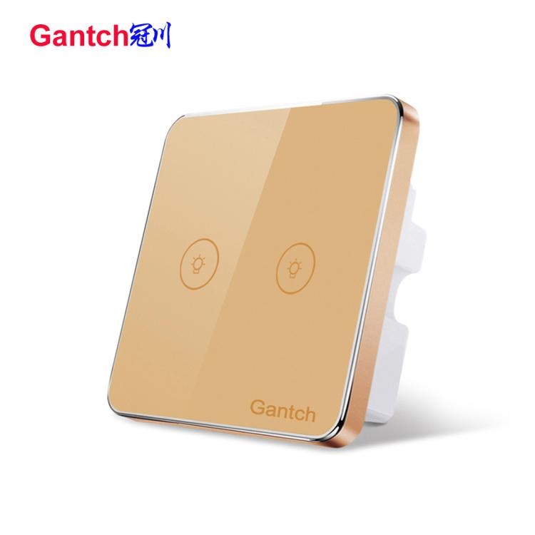 WiFi 2 gangs smart lighting touch switch
