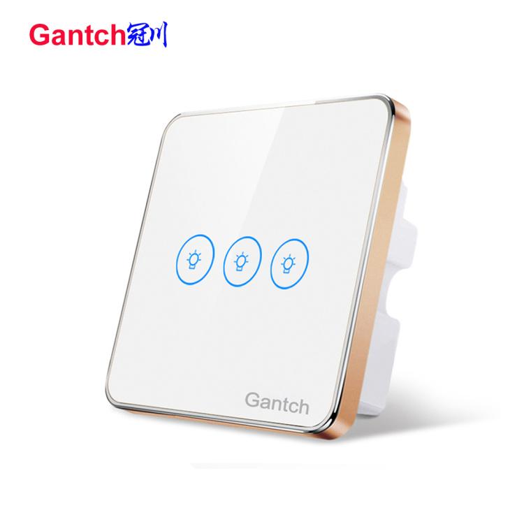 zigbee 3 gang smart lighting touch switch