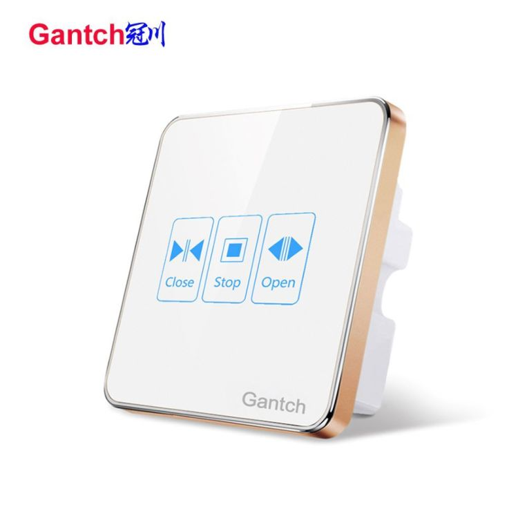 Smart Touch Control Switch Monorail Wi-Fi Control Electric Curtain