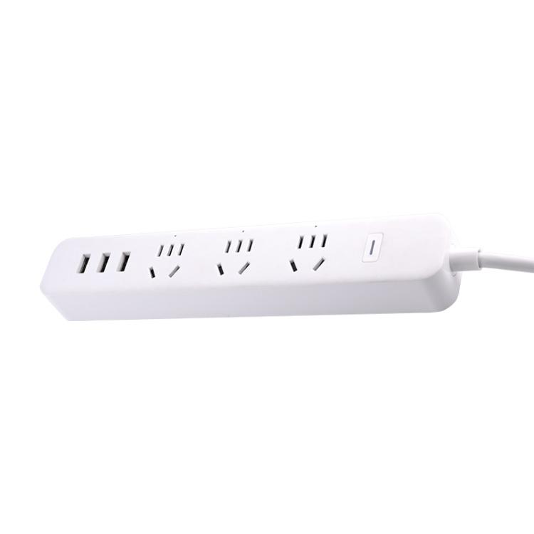 Chinese Standard 3 Way+USB 10A Wi-Fi Smart Power Strip