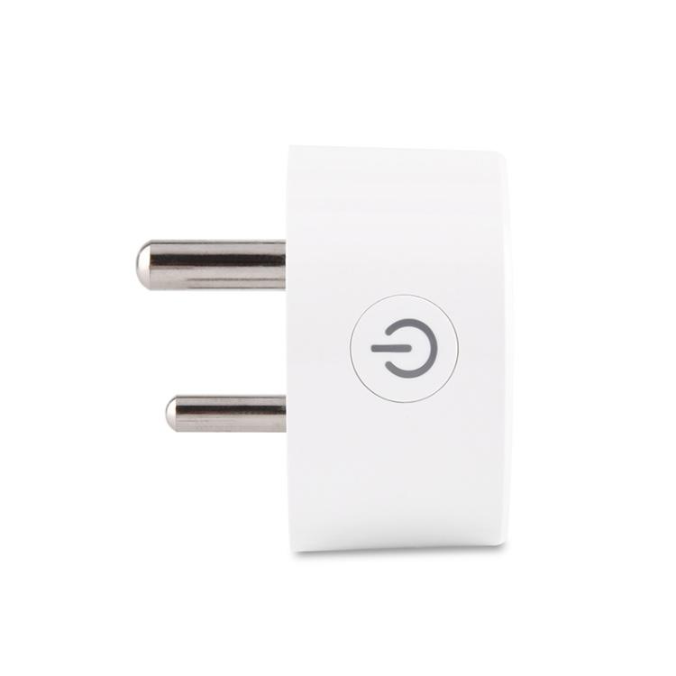 Indian Standard 10A WiFi Smart Plug with Socket Power Metering Function