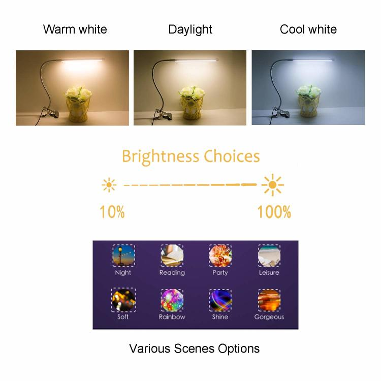 Smart LED Desk Lamp with WiFi, Reading Light with 3-Level Dimmer Touch Control  Work with Alexa Echo