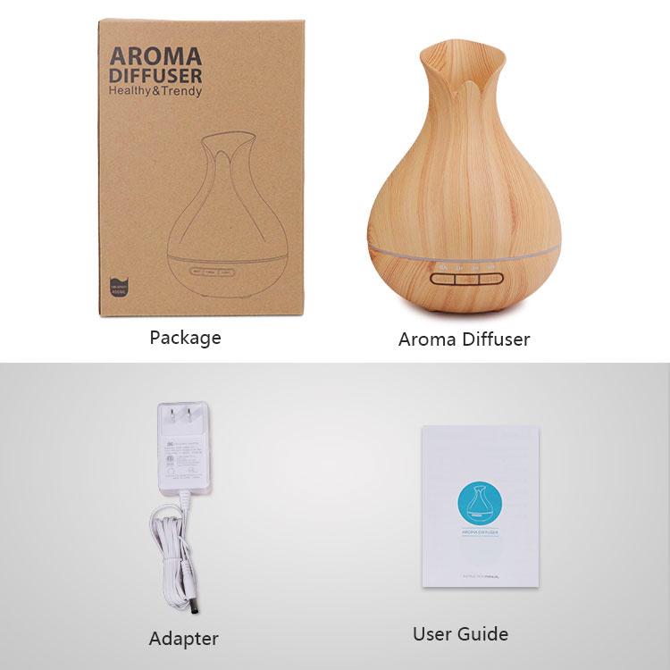 400ml Mini Portable Ultrasonic Cool Mist Maker Aroma Diffuser