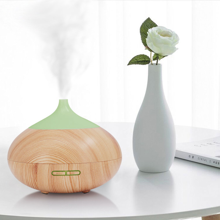Wood Grain Aromatherapy Machine Aroma Humidifier Air Ultrasonic Essential Oil Diffuser