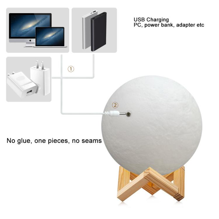 Smart Wi-Fi RGBCW Moon Lamp