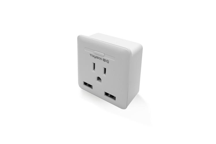 Smart Plug with Dual USB US Type