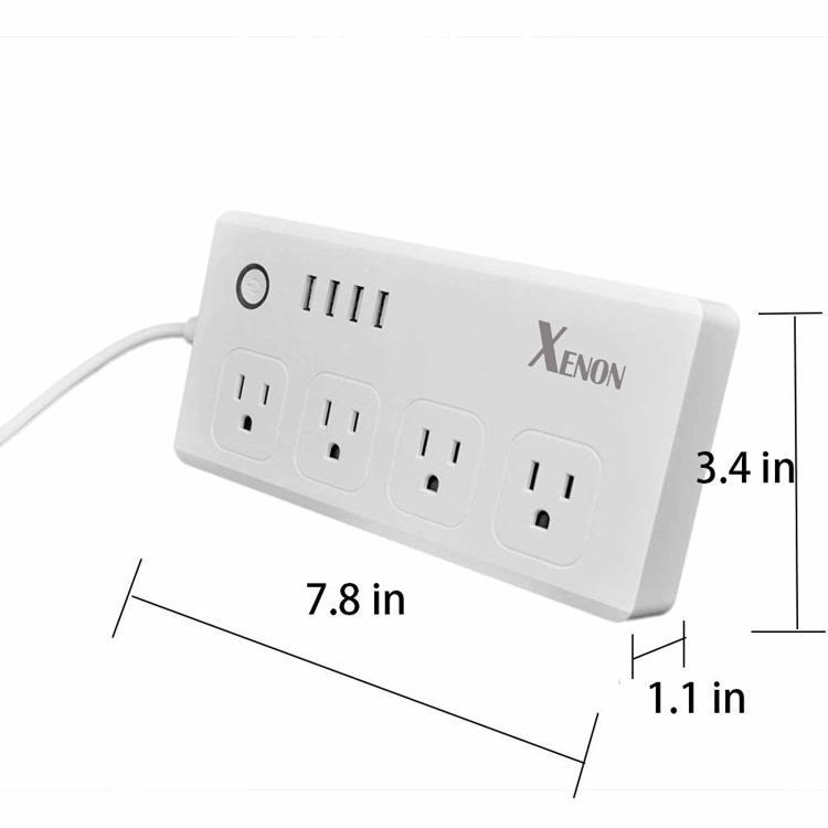 US Zigbee Power Strip 4 AC 4 USB