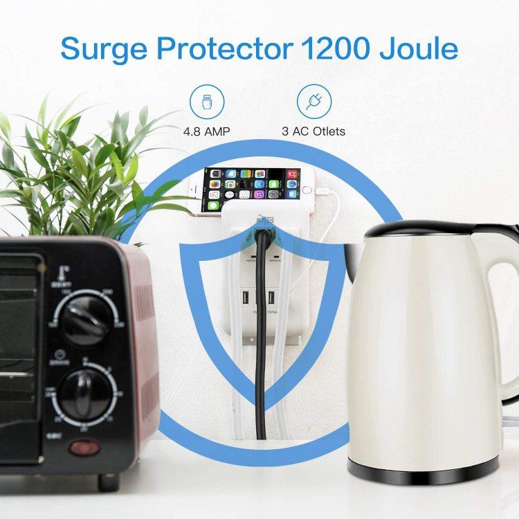 KMC surge protector socket