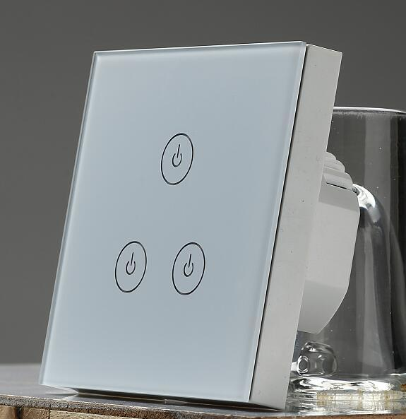 EU TYPE wifi timer switch  glass surface, touch switch