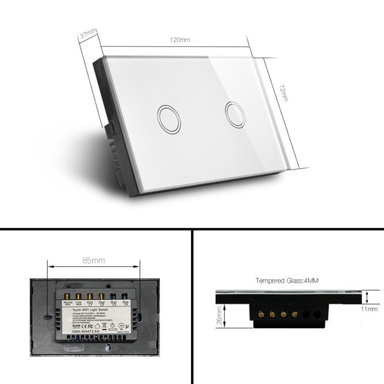 Zigbee 2Gang Light Switch