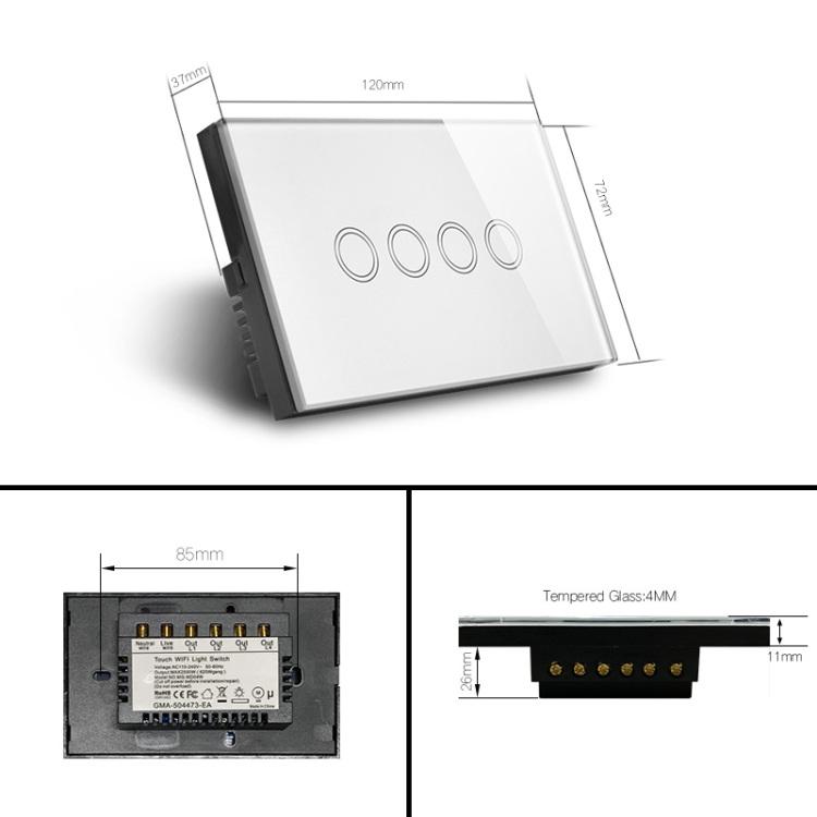 Zigbee 4Gang Light Switch