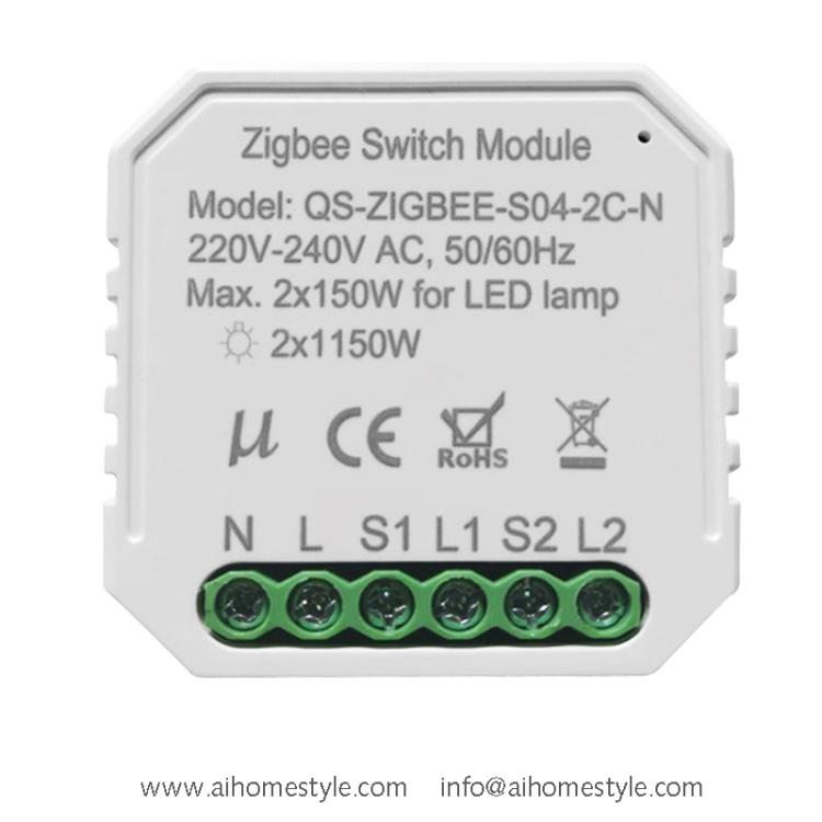 2 Gangs ZigBee Switch Module