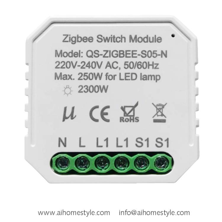 Zigbee Switch module one gang
