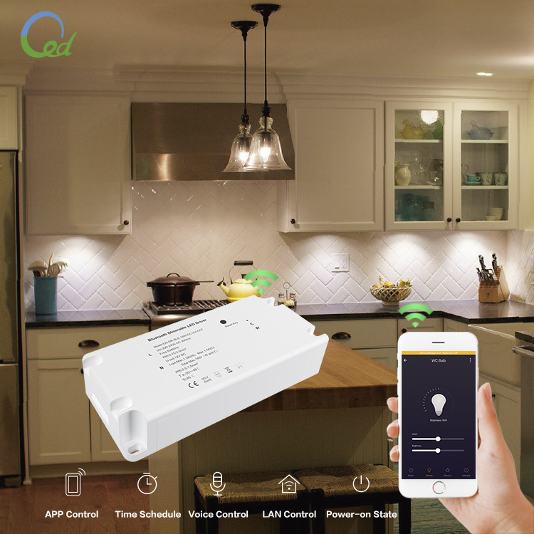 12V Constant Voltage Smart RF Bluetooth Dimmable CCT LED Driver 18W