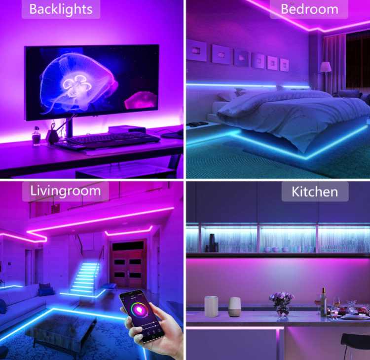 12V 10m WiFi smart  light strip with remote
