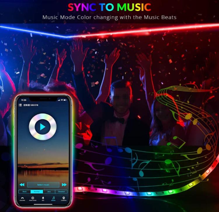 12V Wi-Fi Smart Sync Music Light Strip