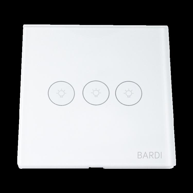 Bardi Smart WiFi Touch Wallswitch - EU 3 Gang White