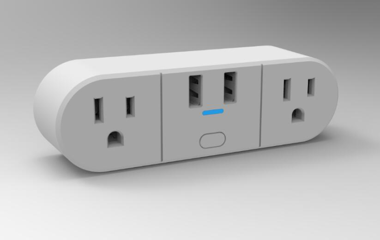 Wi-Fi Smart Dual Sockets (Simultaneously Controlled) + 2 USB Charging Ports