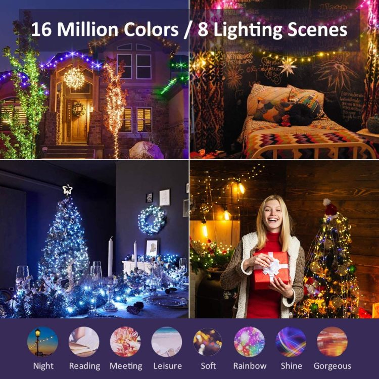 Outdoor String Lights  38Ft 40LED Decorative Lights for Patio Party Wedding Christmas Tree,USB