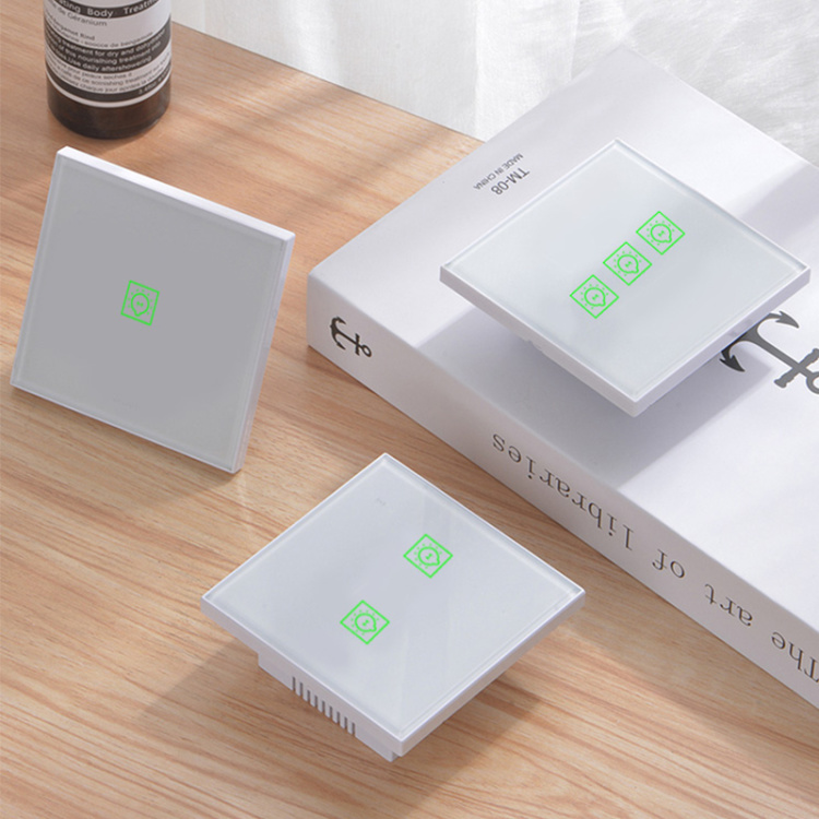 Wi-Fi Lighting Switch One Gang One Way Smart Home Switch App Control Touch Panel