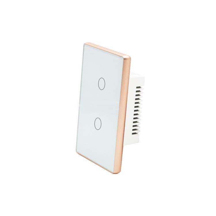 Wi-Fi Smart Light Switch 2 Gang Wireless Remote Control