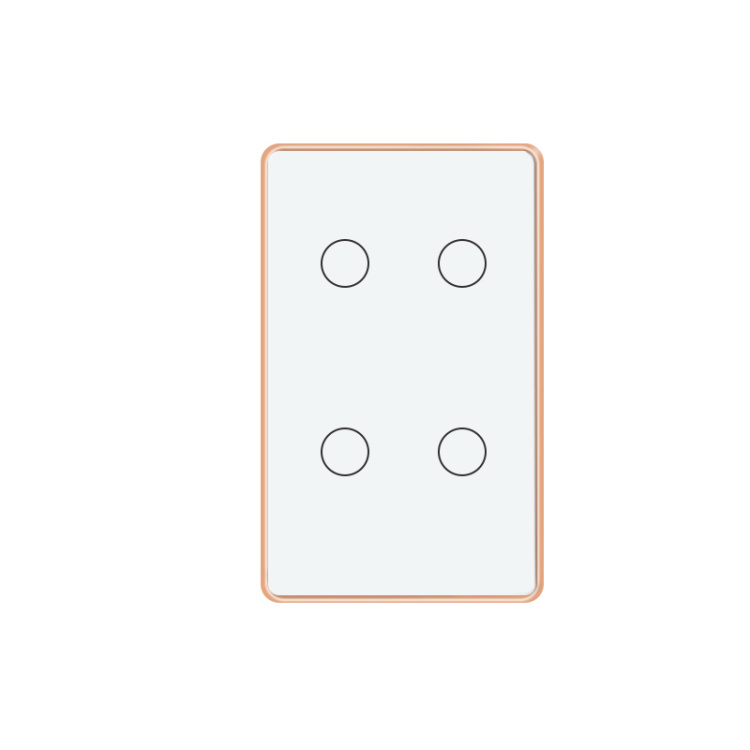 Smart Light Switch 4 Gang Wireless Remote Control