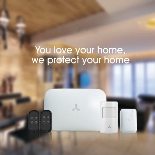 Wi-Fi /GSM/ FHSS RF 433 Alarm System with Siren & Strobe & Battery Backup