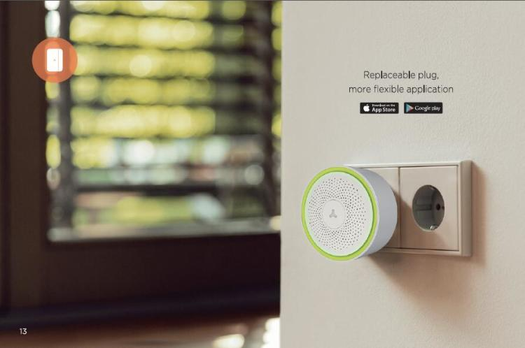 Wi-Fi / FHSS RF 433 Security Alarm System with Siren & Strobe & Battery Backup