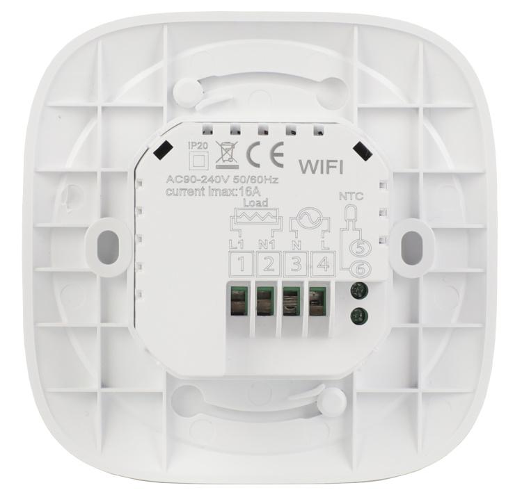 Round Black Smart Thermostat Wi-Fi