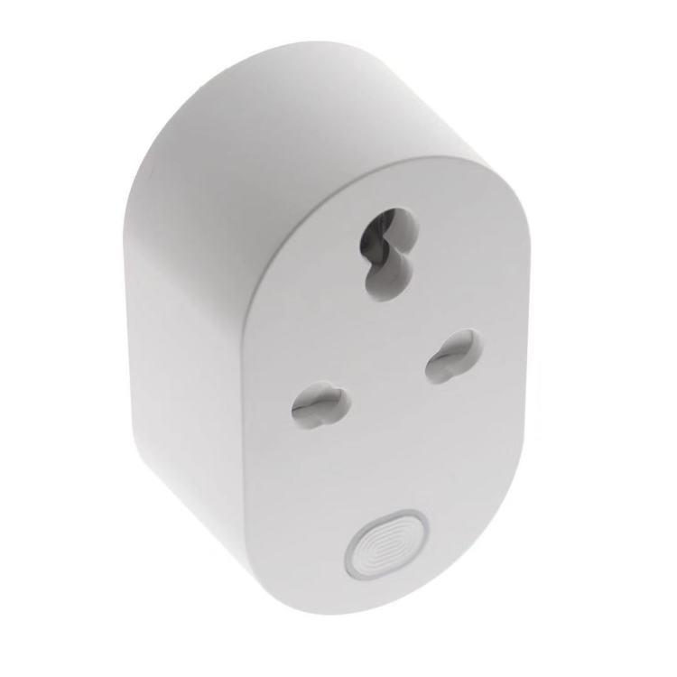 IND/ZA Smart Wi-Fi/Zigbee Plug, 16A with Energy Monitoring. Space-saving Design