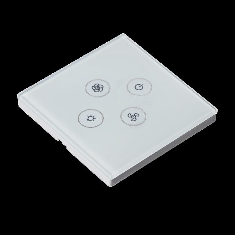 Smart wifi fan+light switch Smart fan+light touch switch