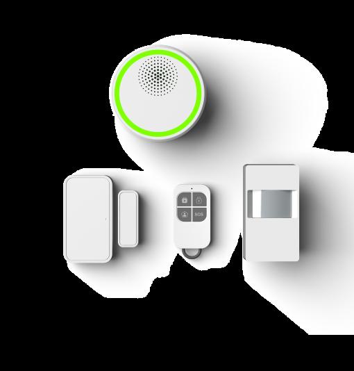 WiFi RF433/868 GSM alarm starter set Battery and siren inside