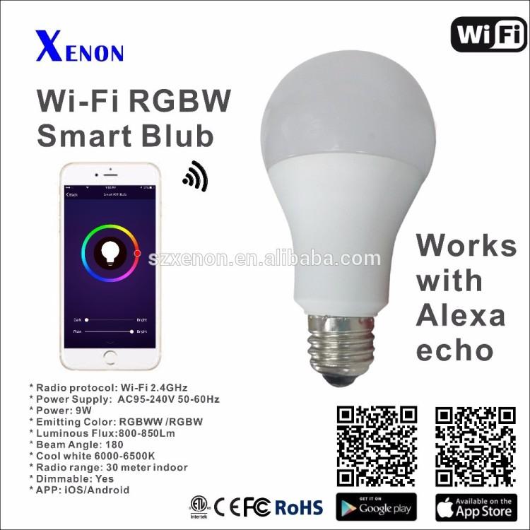 8W B22 E27 wifi samrt bulb