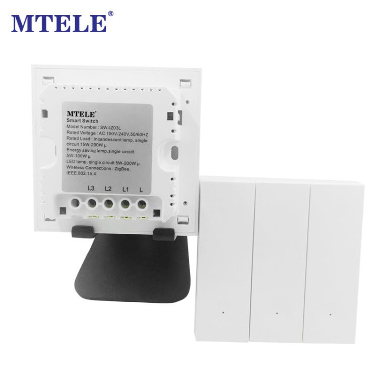 Omron Accessories 3 Gang Tuya Remote Control Push-key Zigbee Smart Light Switch