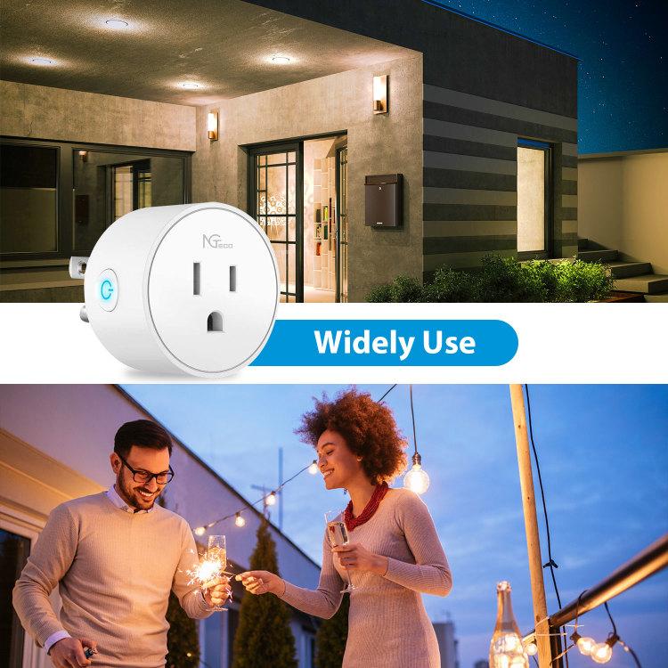 NGTeco Wi-Fi Smart Plug - Work with Alexa, Google Home Assistant