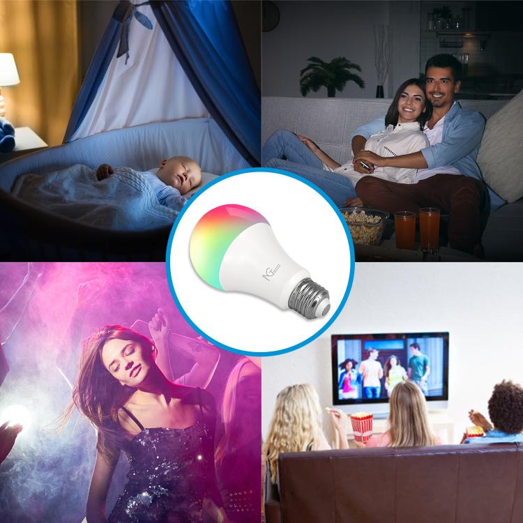 NGTeco Smart Bulb Wi-Fi Light Colorful LED Bulb
