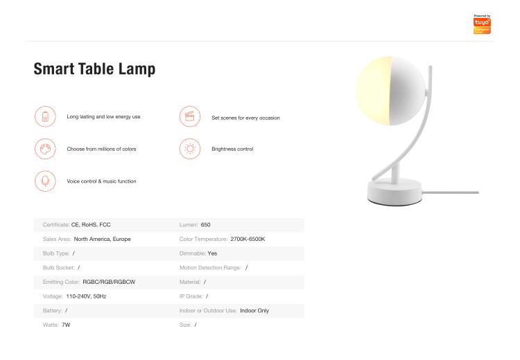 Smart Table Lamp