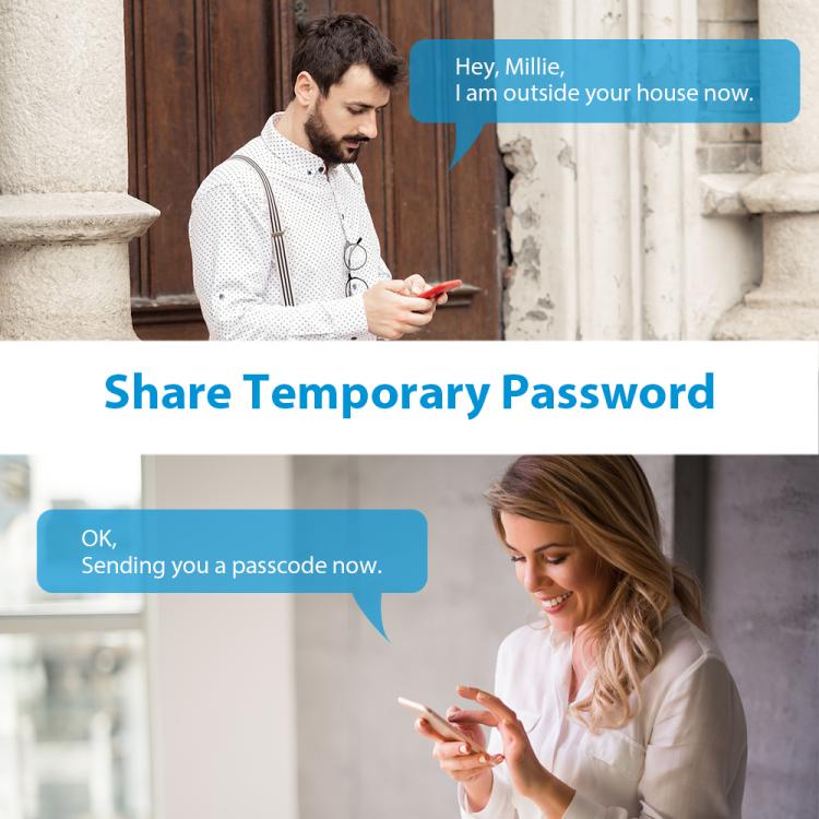 NGTeco wireless zigbee Keypad Smart Lock unlock and control remotely for short-rental apartment