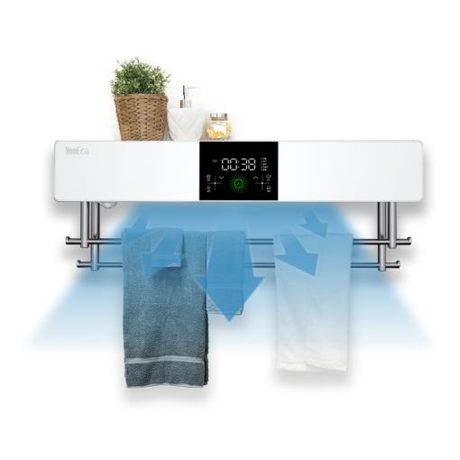 Bathroom Accessories UV Light Sterilization 550W Heated Towel Dryer