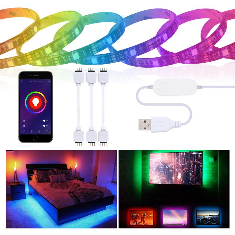TV smart LED strip lighting kit with 5V USB port RGB 3M