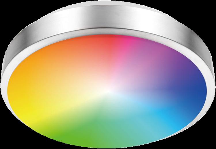 RGBCW LED Flush Mount Light Single Ring 14