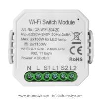 2 Gangs Smart Wi-Fi Switch Module