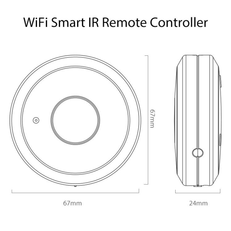 Tuya APP Control Wifi Enabled Alexa/Google Home Smart Universal IR Remote Controller
