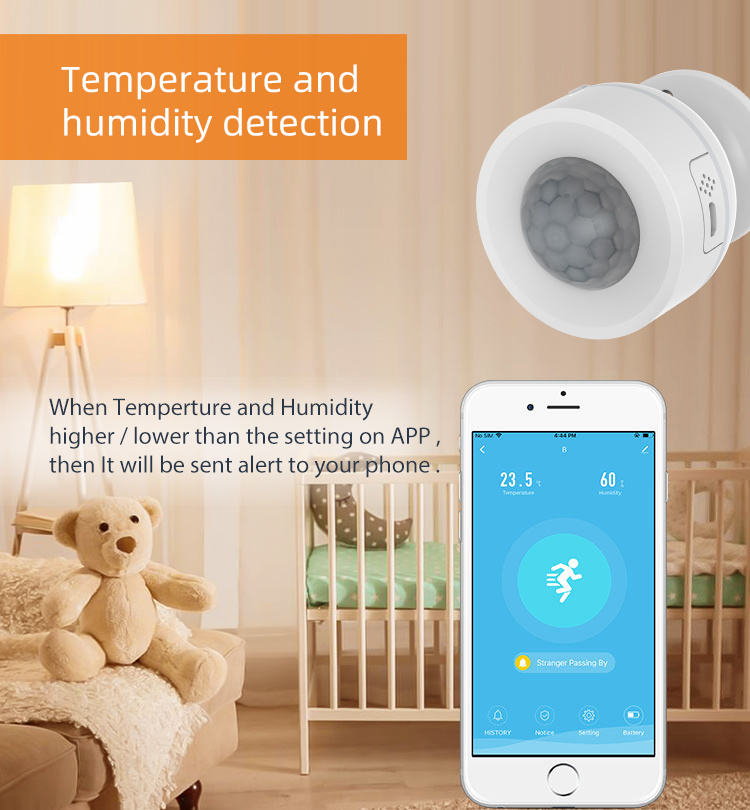 Indoor tuya smart life control wireless wifi wall mount infrared usb pir motion humidity temperature sensor