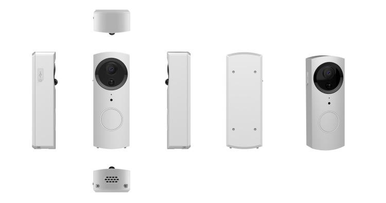 720P/1080P Wi-Fi Smart Video Doorbell Waterproof IP54