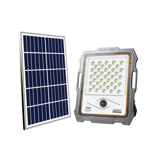 100W Wireless Solar Light 2MP Wi-Fi Camera