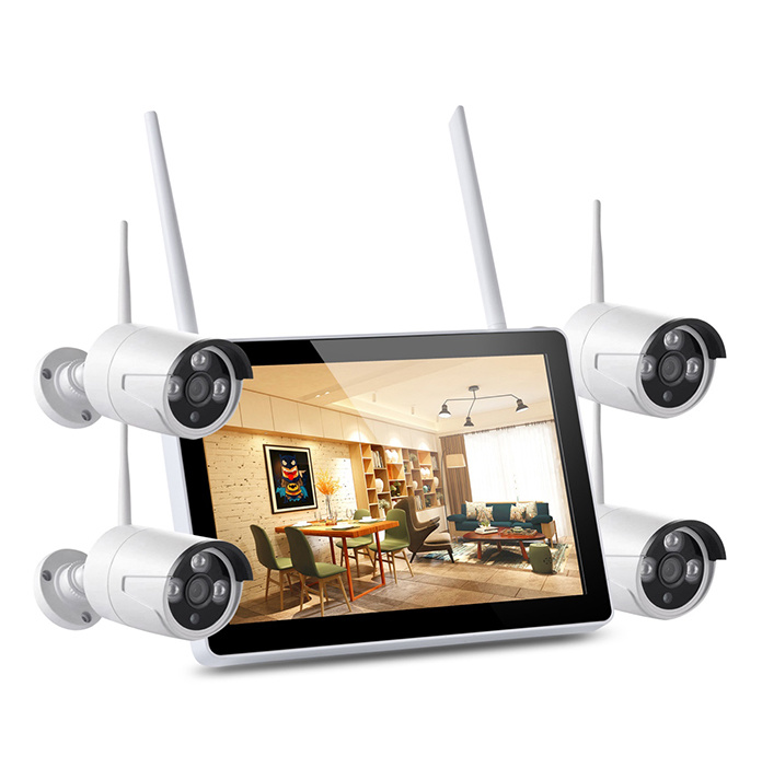 Unistone 4CH Wireless Wi-Fi 2MP Camera NVR CCTV Security  Kit with Monitor