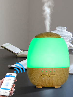 Wi-Fi New Aroma Diffuser With Led Colorful Lights