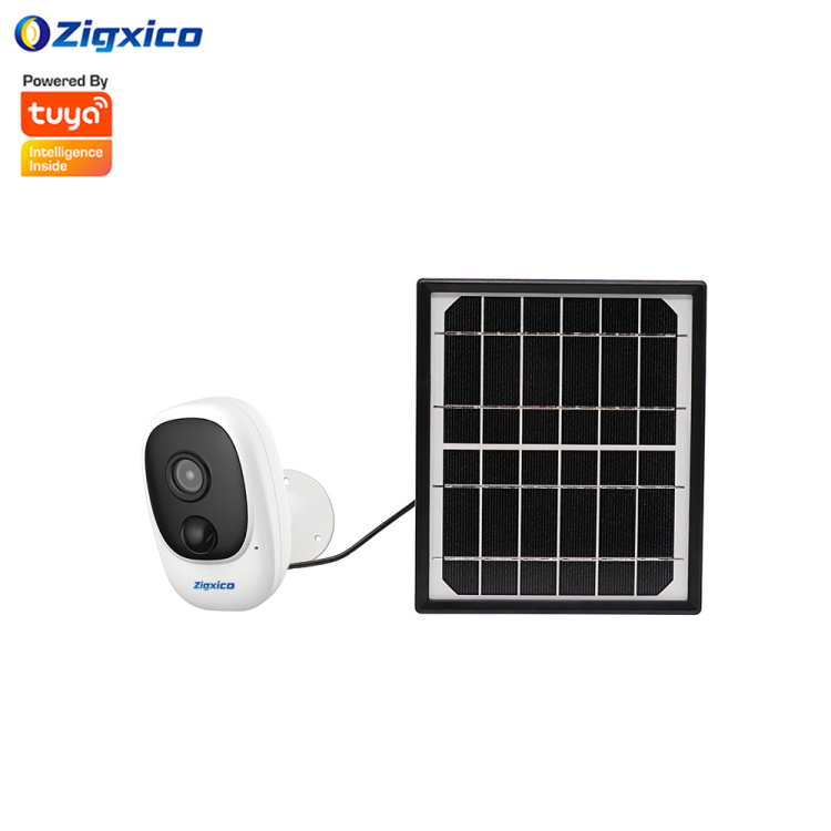 Zigxico Wi-Fi HD 1080P IP Camera With Solar Battery | Motion Detection | Humanoid Detection | Two Way Intercom