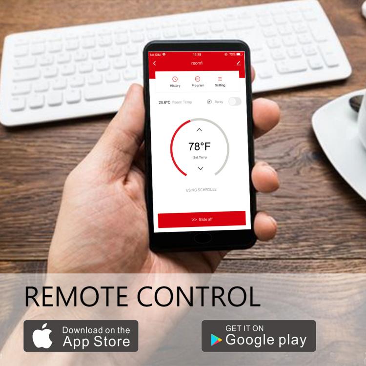 Saswell Built-in Alexa 24VAC Heat Pump Smart Thermostat